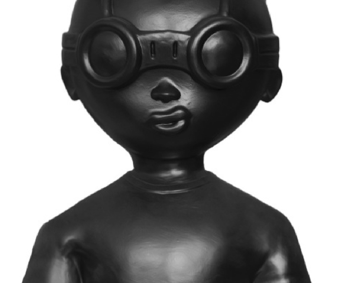 Hebru Brantley  Fly Boy Bust (Black), 2014