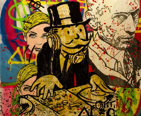 <p><span class=&#34;Apple-style-span&#34; style=&#34;font-family: verdana, arial, helvetica; font-size: 11px; line-height: 14px;&#34;><strong>Alec Monopoly</strong><br /><em>Monopoly DJ - Bob & Twiggy</em>, 2013</span></p>