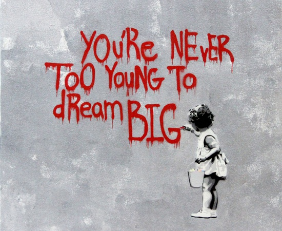 <p><b>HIJACK</b><br /><i>Never Too Young to Dream Big - Red Grey</i><span>, 2013</span></p>
