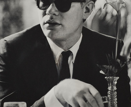 <p><b>Dennis Hopper</b><br /><i>Andy Warhol (at table)</i><span>, 1963</span><br /><br /></p>
