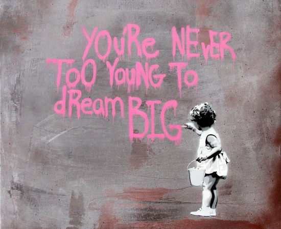 <p><b>HIJACK</b><br /><i>Never Too Young to Dream Big - Pink Grey</i><span>, 2013</span></p>