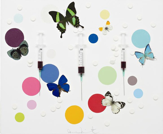 <p><b>Damien Hirst</b><br /><i>Happiness</i><span>, 2008</span></p>
